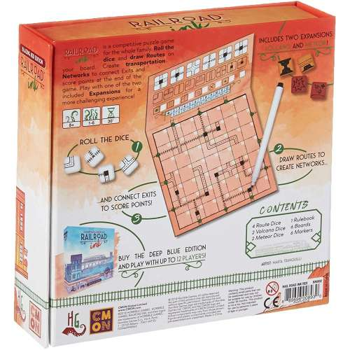 Railroad Ink: Blazing Red Edition - настолна игра