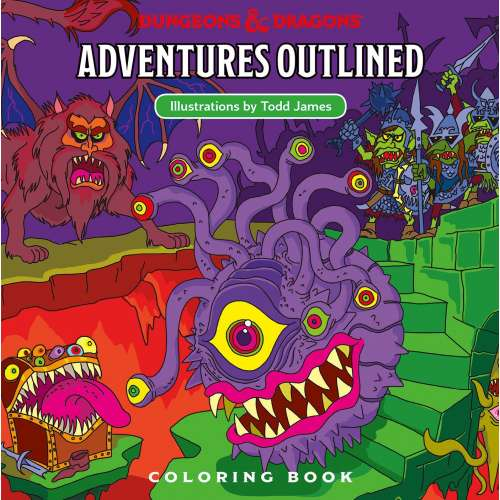 Dungeons & Dragons RPG: Adventures Outlined Coloring Book