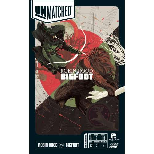 Unmatched: Robin Hood vs. Bigfoot - настолна игра