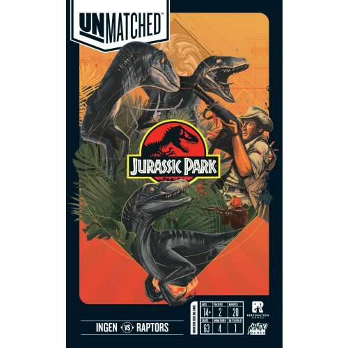 Unmatched: Jurassic Park – InGen vs Raptors - настолна игра
