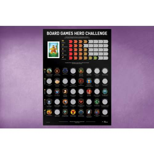 Scratch-Off Poster Board Games Hero Challenge
